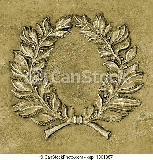 Bronze relief ornament - csp11061087
