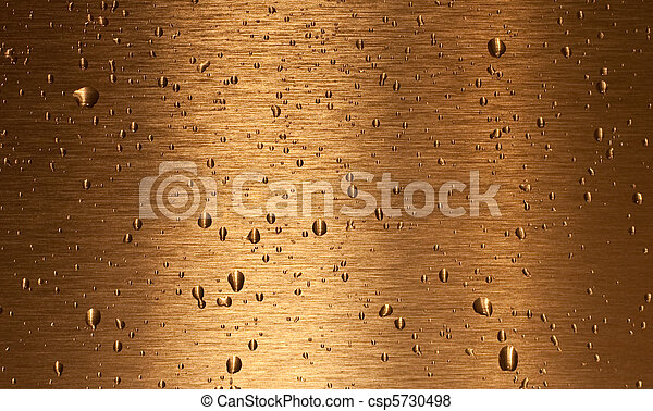 Bronze texture with water drops on it - csp5730498