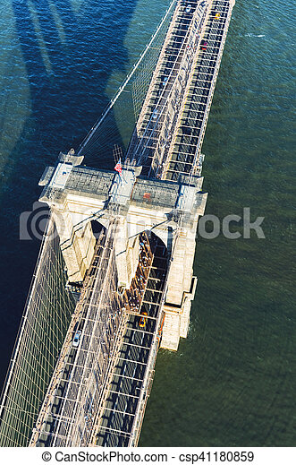 Brooklyn Bridge over the East River in New York - csp41180859