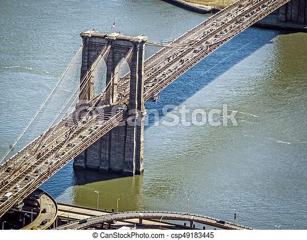 Brooklyn Bridge Over the East River - csp49183445