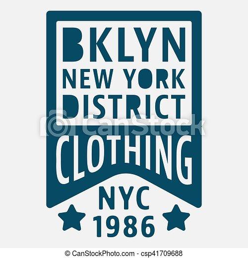 Brooklyn New York vintage stamp - csp41709688
