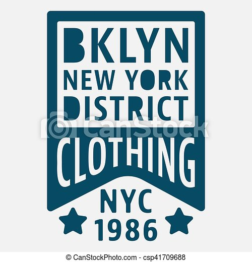 7e5c2cc0c T-shirt print design. brooklyn new york vintage stamp. printing and ...