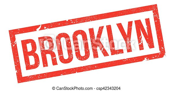 Brooklyn rubber stamp - csp42343204