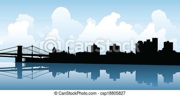 Brooklyn Skyline - csp18805827