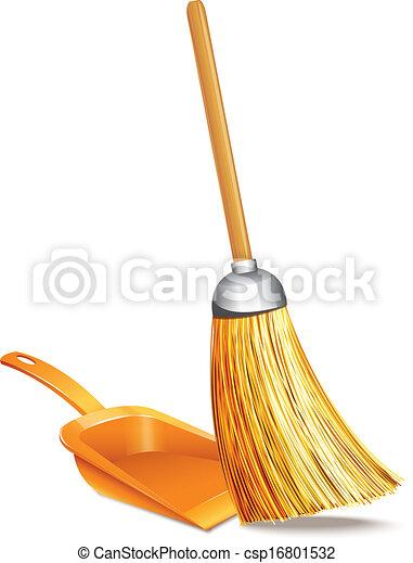 Broom And Dustpan  - csp16801532