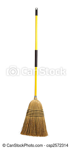 broom on a white background - csp2572314