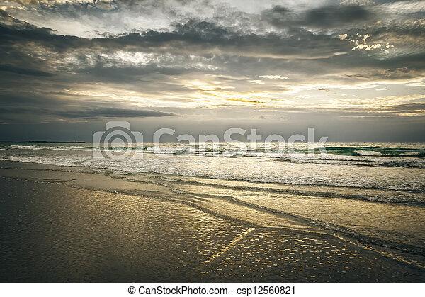 Broome Australia sunset - csp12560821