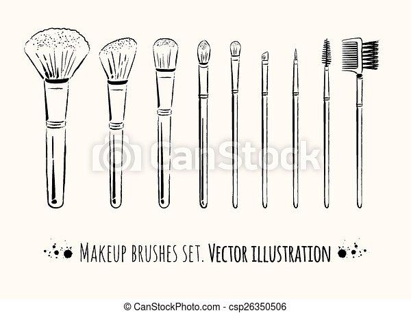 brosses, kit., maquillage - csp26350506