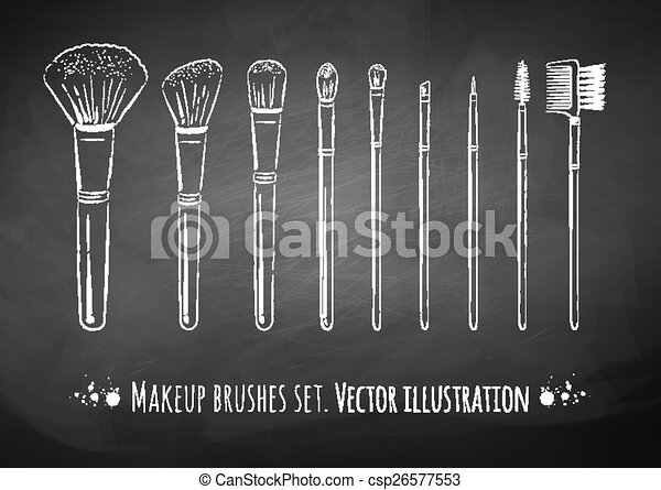 brosses, kit., maquillage - csp26577553