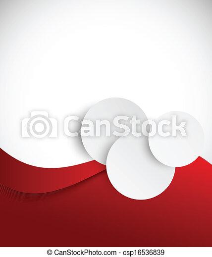 broszura, abstrakcyjny, czerwony - csp16536839