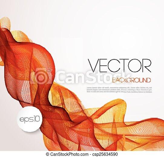 broszura, tło, abstrakcyjny, szablon, machać, projektować - csp25634590