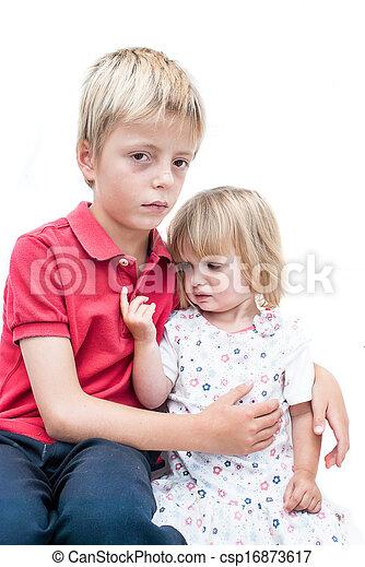 brother., irmã, infeliz - csp16873617