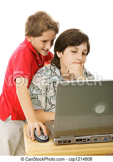 Brothers On Computer - csp1214808