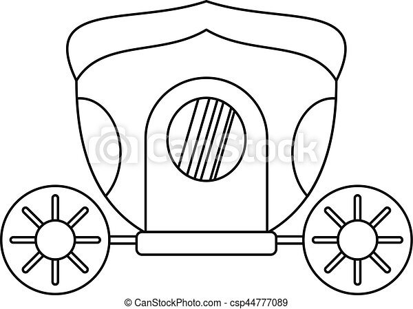 Brougham icon, outline style - csp44777089