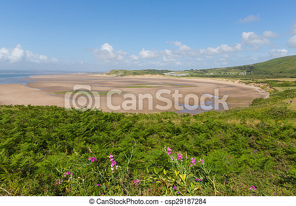 Broughton Bay the Gower Wales - csp29187284