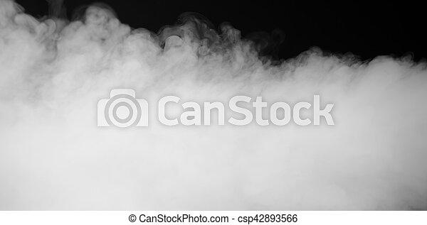 brouillard, dense, fumée, fond - csp42893566