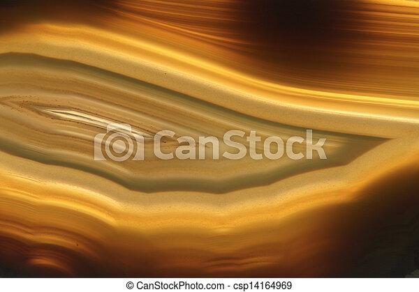 brown agate gem background (macro, detail)  - csp14164969