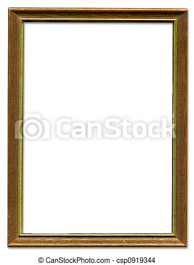 gold frame border design. Brown And Gold Empty Picture Frame Border Design - Csp0919344 T
