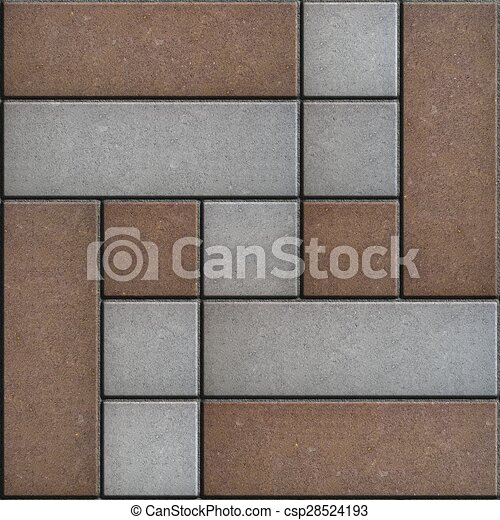 Brown and Gray Pavement Figured Form. - csp28524193