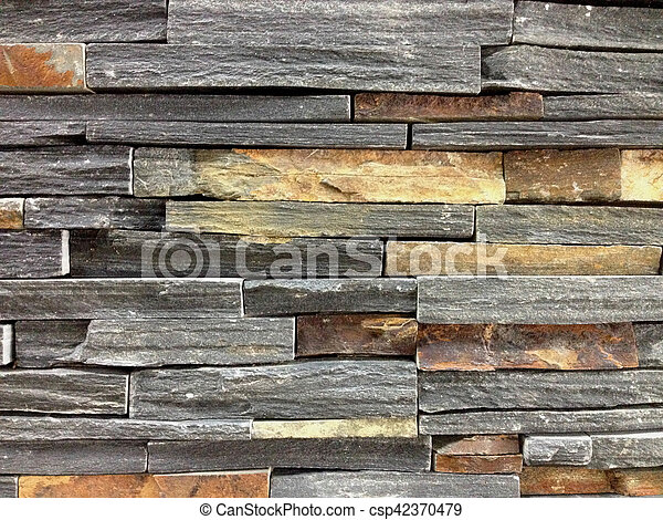 Brown And Grey Stone Wall - csp42370479