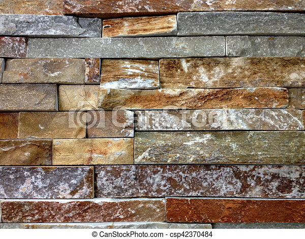 Brown And Grey Stone Wall - csp42370484