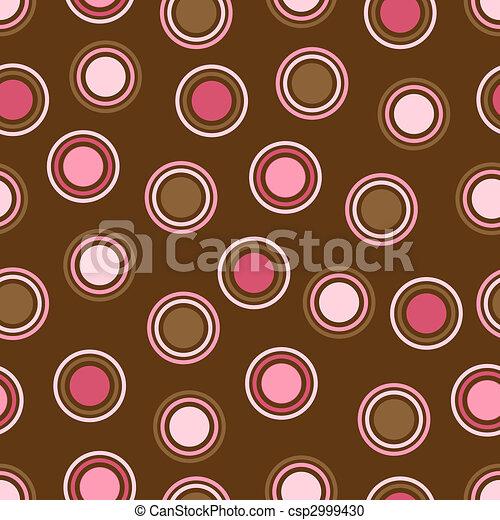 Brown and Pink Polka Dots - csp2999430