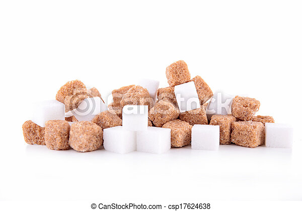 brown and white sugar isolated - csp17624638