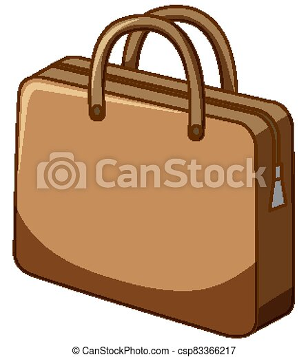 Brown bag on white background - csp83366217
