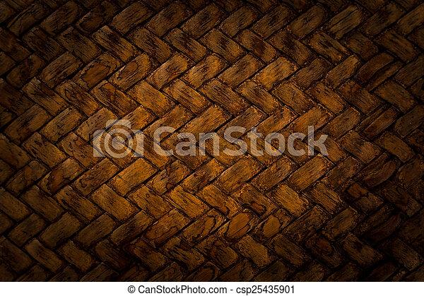 Brown basket weave pattern - csp25435901