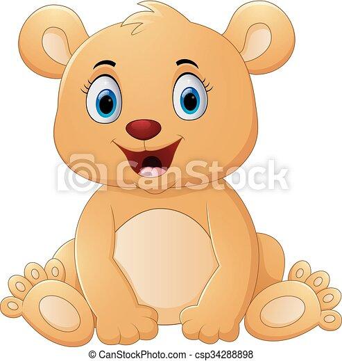 Brown bear cartoon - csp34288898