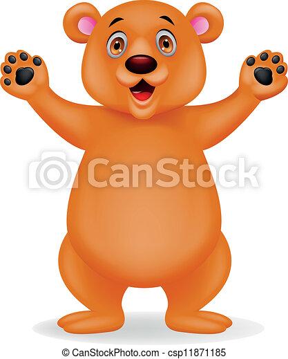 Brown bear cartoon - csp11871185