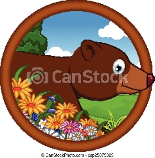 brown bear cartoon - csp25875323
