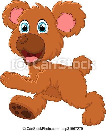 Brown bear cartoon - csp31567279