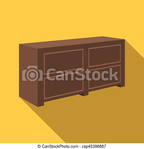 Bedside table clipart  Brown bedside table with drawers.nightstand next to the bed.bedroom ...