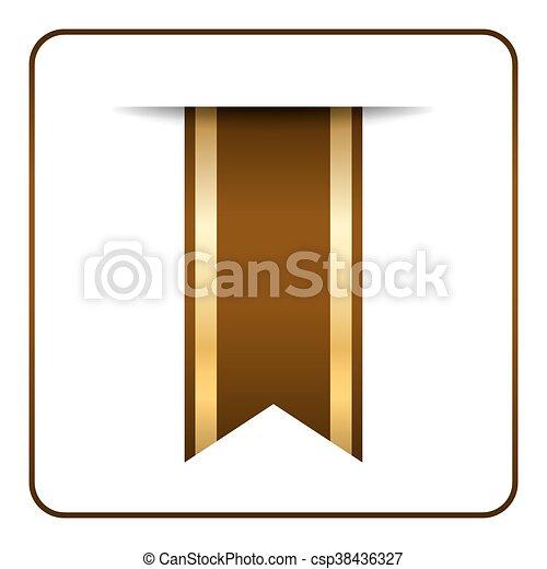 Brown bookmark banner - csp38436327