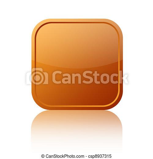 Brown button - csp8937315