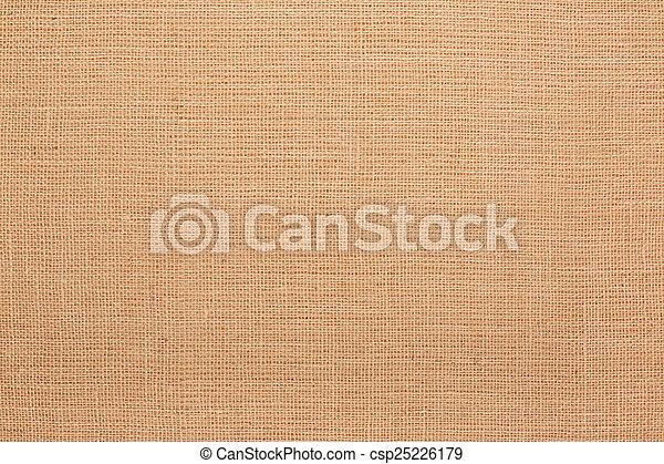 Brown canvas texture background - csp25226179