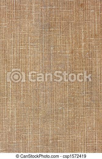 brown, coarse textile background - csp1572419