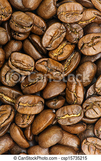 brown coffee, background texture, close-up - csp15735215
