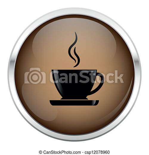 Brown coffee icon. - csp12078960