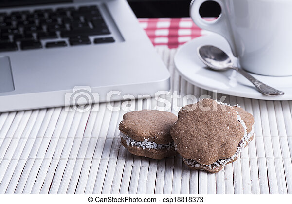 Brown Cookies - csp18818373