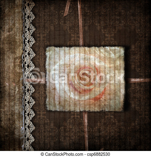 Brown cover for an album with photos  - csp6882530