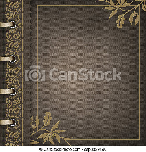 Brown cover for an album with photos - csp8829190