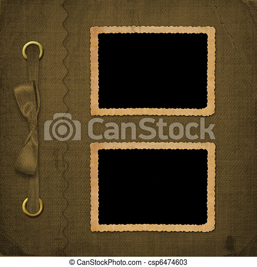 Brown cover for an album with photos - csp6474603