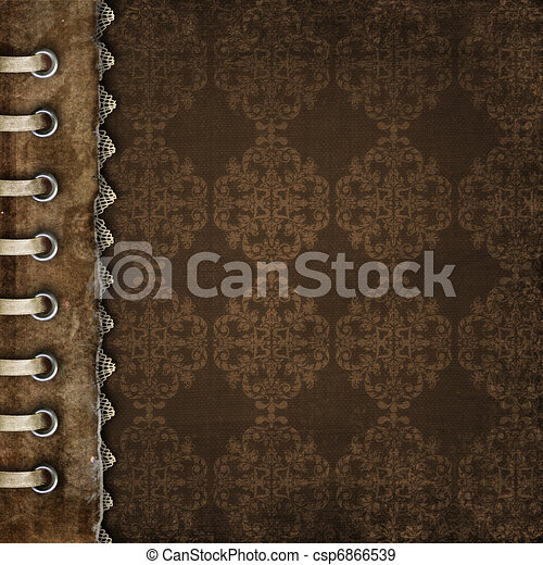 Brown cover for an album with photos  - csp6866539