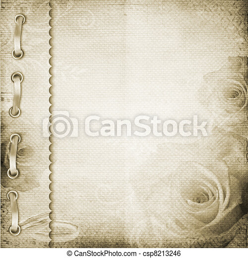 Brown cover for an album with photos  - csp8213246
