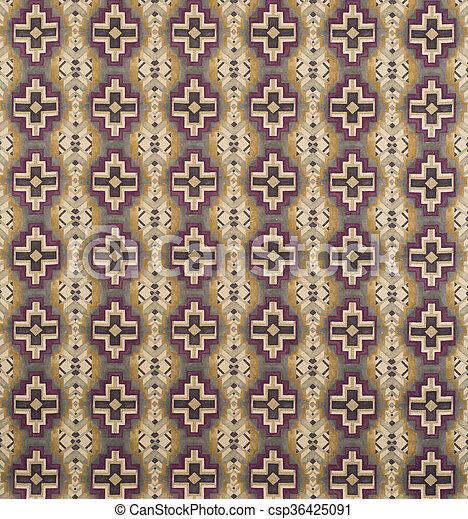 Brown Cream Purple Cross Pattern Wallpaper Swatch