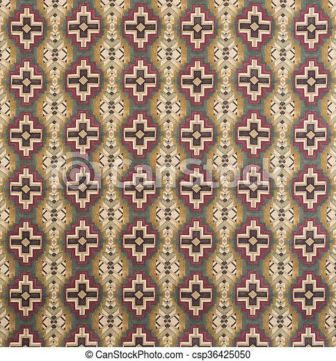 Brown, Cream, Red Cross Pattern Wallpaper Swatch - csp36425050
