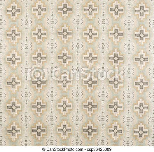 Brown, Cream, Yellow Cross Pattern Wallpaper Swatch - csp36425089