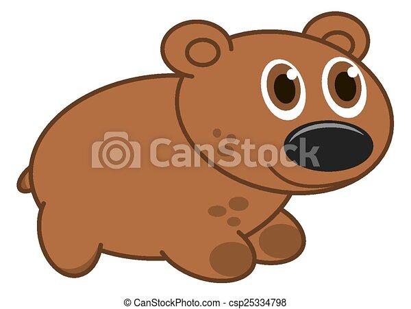 brown dog profile - csp25334798